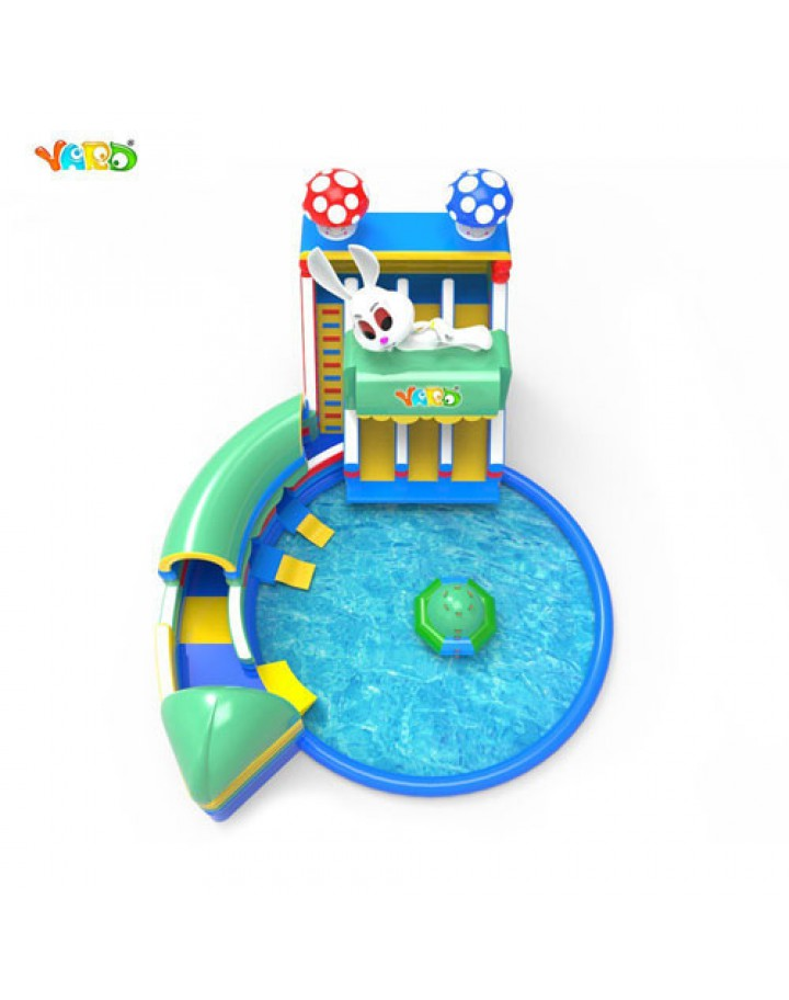 YARD Large Inflatable Water Park with Slide Tunnel Disco ...